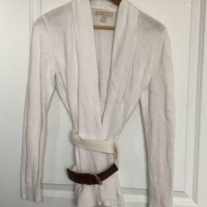 Michael Kors white wrap sweater